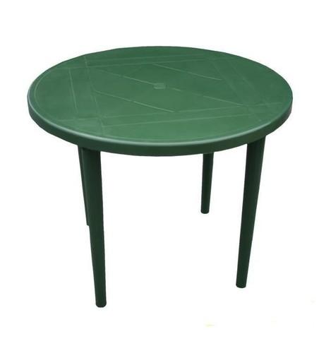 Пластиковый стол круглый болотный