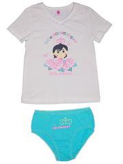 Комплект (футболка + трусы) для девочек 2411542