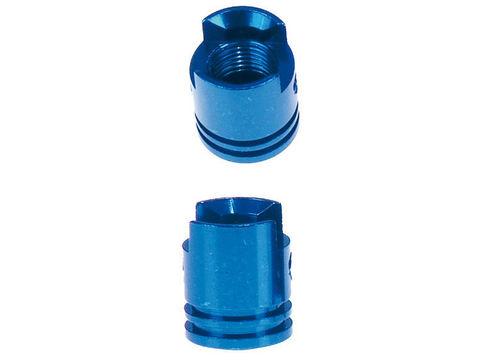 Крышка на поршневой клапан, не применимо к мотоциклам с системой контроля давления в шинах - синий