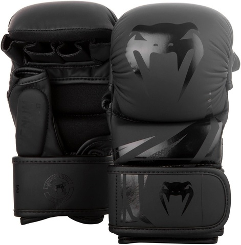 Перчатки для ММА Venum Challenger 3.0 Sparring Gloves Black/Black