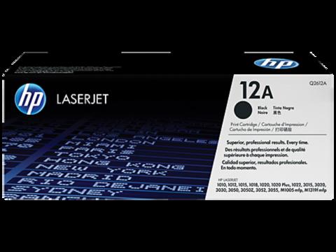 Оригинальный картридж HP Q2612A (№12A), чёрный