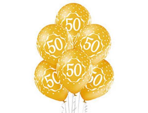 Воздушные шары с гелием на Юбилей 50 лет