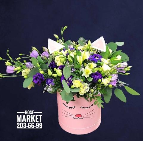 Цветы в шляпной коробке #19981