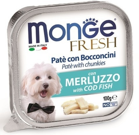 Monge Dog Fresh консервы для собак (треска) 100г
