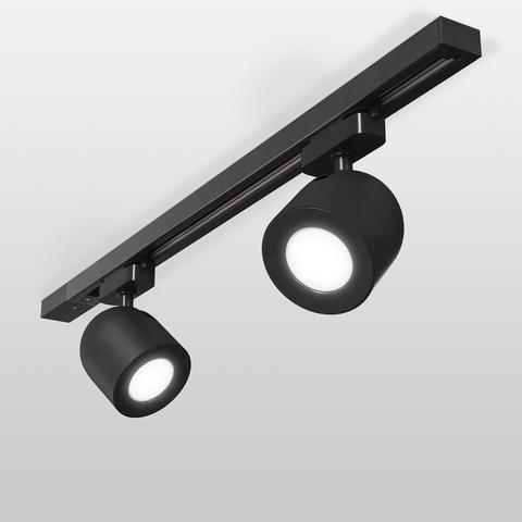 Трековый светильник для однофазного шинопровода Ogma GU10 черный MRL 1005