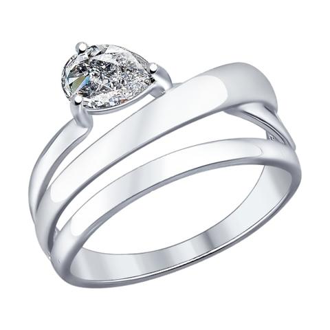 94012046- Кольцо из серебра с фианитами