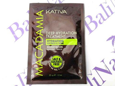 Kativa MACADAMIA Маска для нормальных и поврежденных волос интенсивно увлаж-ая , 35гр