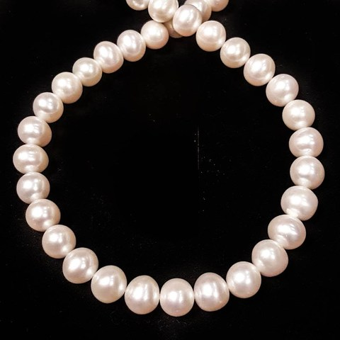 Бусины жемчуг АА 9-10 мм белый