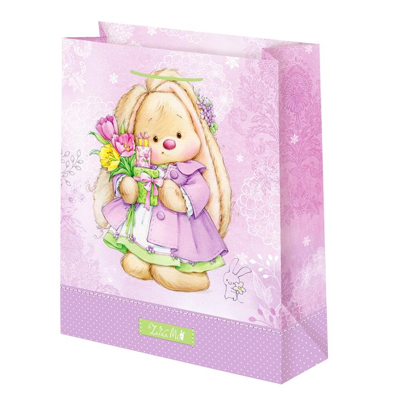 Подарочный пакет Зайка Ми с букетом (малый)