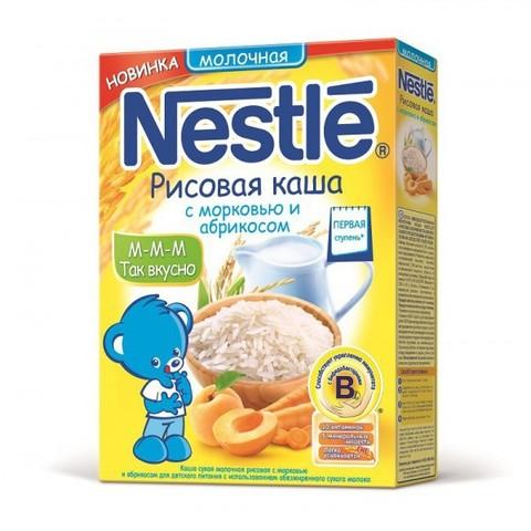 Nestlé® Молочная Рисовая с морковью и абрикосом 250гр