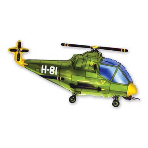 вертолёт зеленый