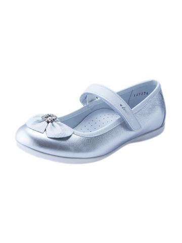 Туфли для девочки Тотто серебристые