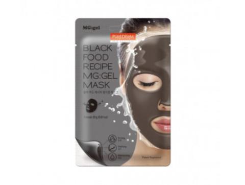 Гидрогелевая маска для лица с черным комплексом Purederm Black Food Recipe MG:gel Mask