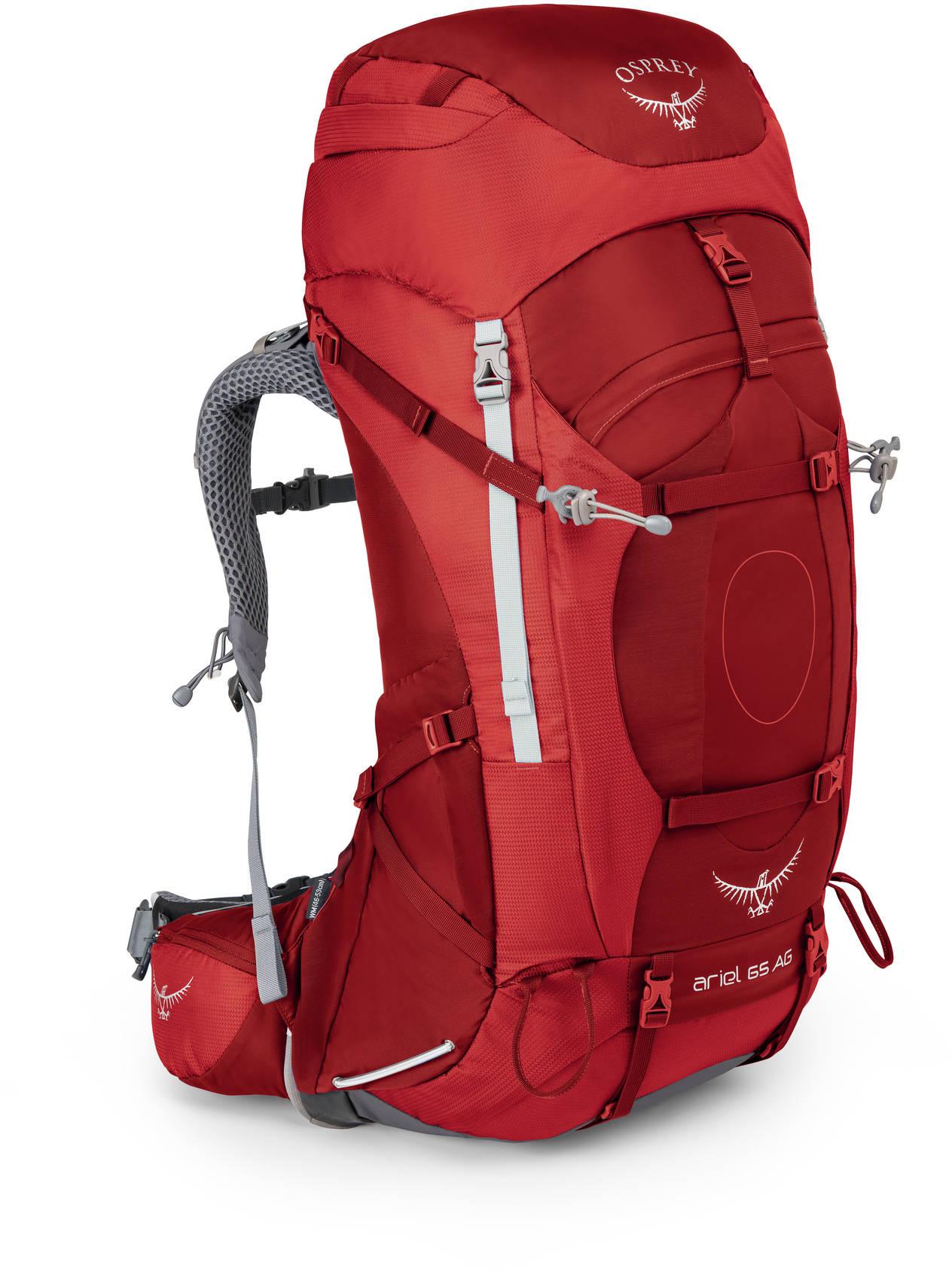 Туристические рюкзаки Рюкзак туристический женский Osprey Ariel AG 65 Ariel_AG_65_S17_Side_Picante_Red_web.jpg