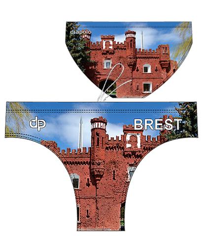 ОБРАЗЕЦ плавок для водного поло Diapolo с дизайном города Бреста (2018)