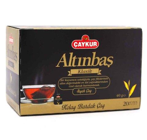 Пакетированный турецкий черный чай Altinbas, Çaykur, 20 пакетов
