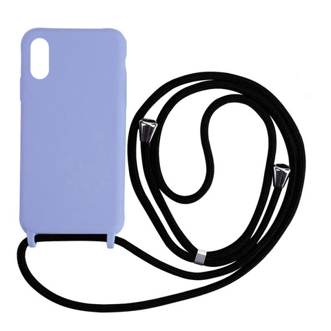 Чехол iPhone X/XS Silicone Case crossbody bag /glycine/