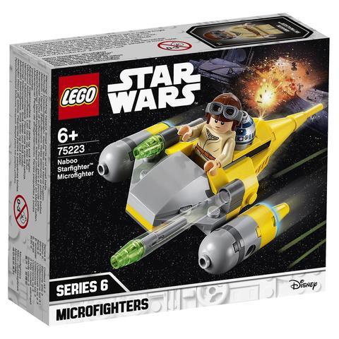 LEGO Star Wars: Микрофайтеры: Истребитель с планеты Набу 75223 — Naboo Starfighter Microfighter — Лего Звездные войны Стар Ворз