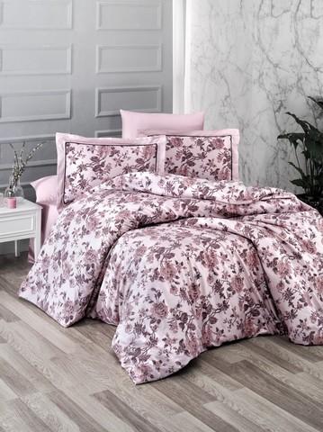 Комплект постельного белья DO&CO Сатин  жаккард DELUX 2 спальный AGORA цвет пудра