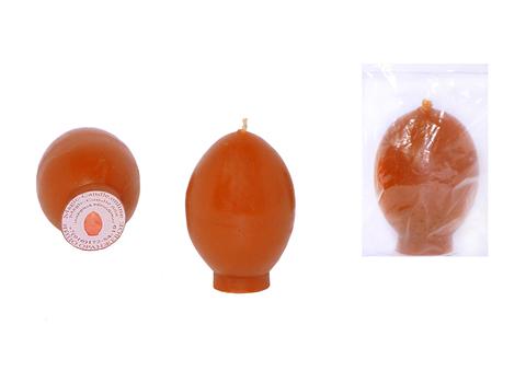 Свеча яйцо оранжевое