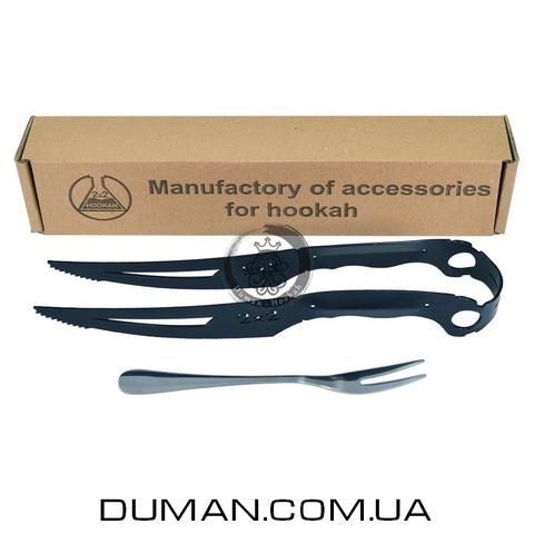 Щипцы для кальяна 2x2Hookah Black Knife Gift Edition  Комлект