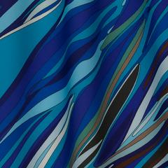 Пестрый крепдешин с тонкими волнами