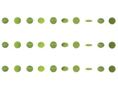 Гирлянда Круги Kiwi Green блеск