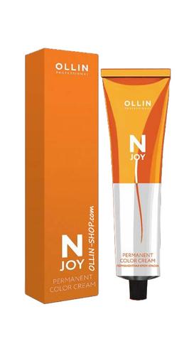 OLLIN N-JOY  5/55 – светлый шатен интенсивно-махагоновый, перманентная крем-краска для волос 100мл