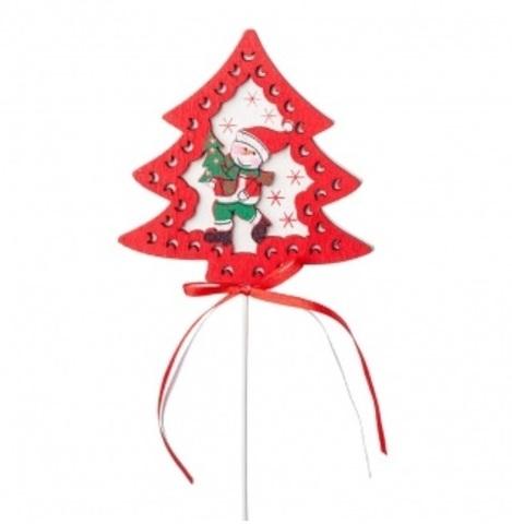 Вставка новогодняя Елочка со снеговиком (в упаковке 24 шт.)
