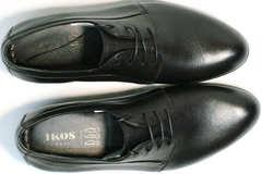 Кожаные туфли мужские из натуральной кожи Ikoc 060-1 ClassicBlack.