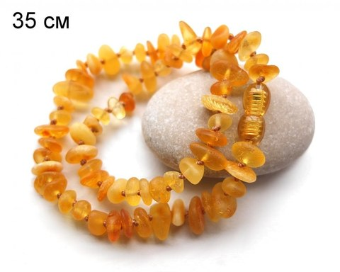Детские бусы из янтаря цвет абрикос