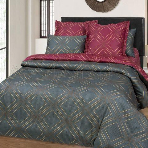 Комплект постельного белья 1,5 спальный Сатин Анри