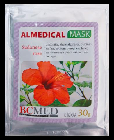 *Альгинатная маска (BCMED/Суданская роза/30гр)