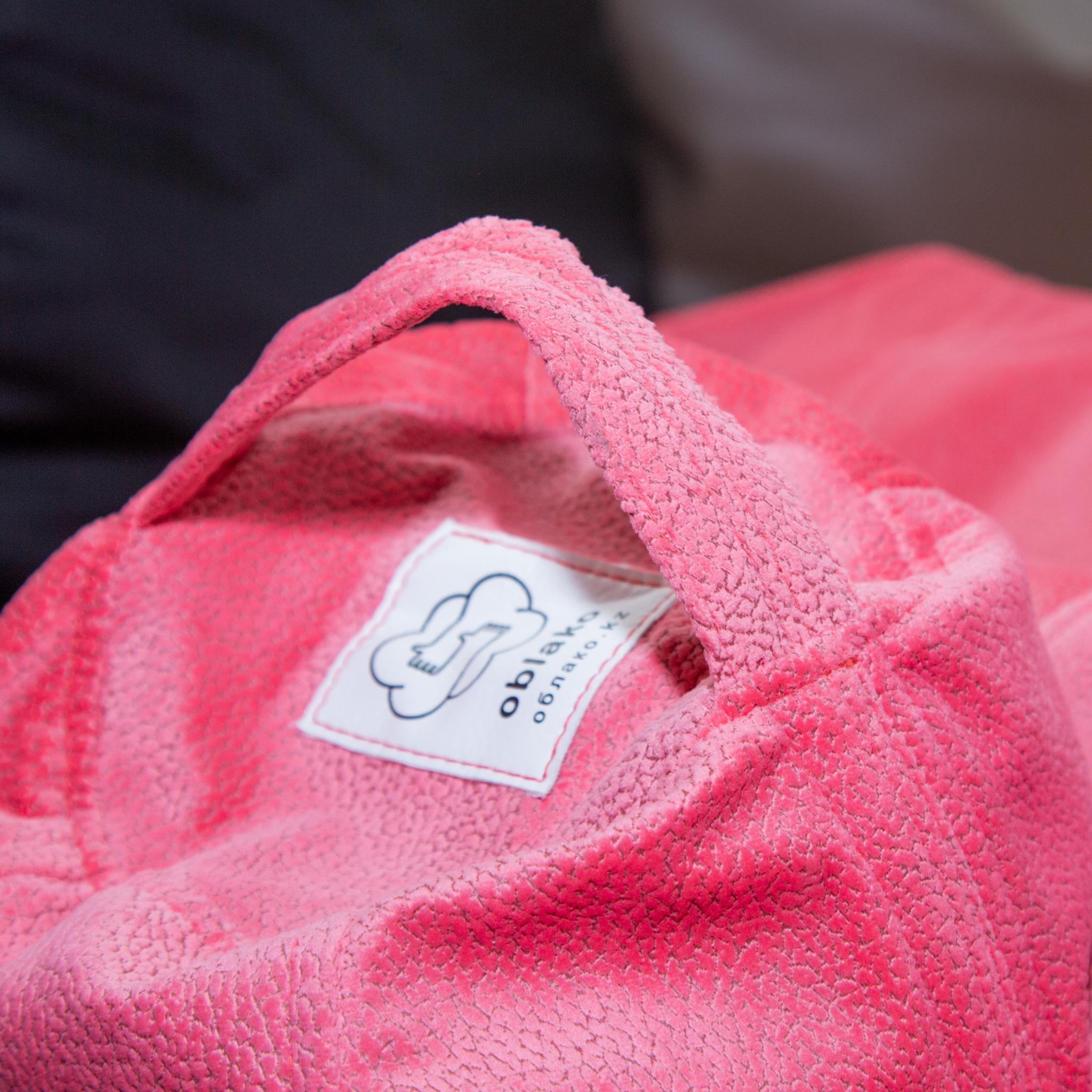 Груша S велюр (розовая)