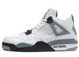 Кроссовки Мужские Nike Air Jordan Retro 4 White Black Grey