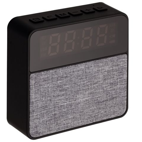 Real Jam Bluetooth Speaker with Clock, black