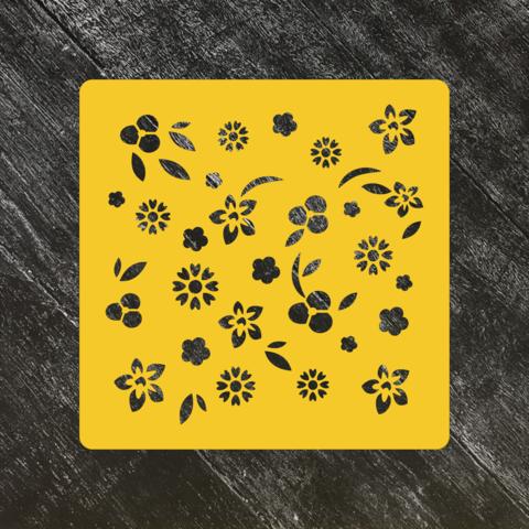 Трафарет-фон №18 Цветочное поле
