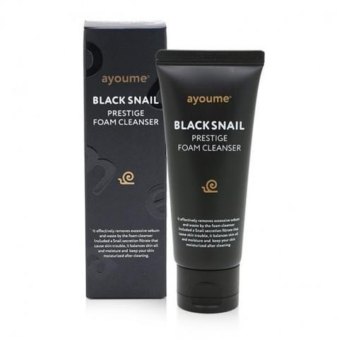 Пенка для умывания с муцином черной улитки AYOUME BLACK SNAIL PRESTIGE FOAM CLEANSER 60 мл