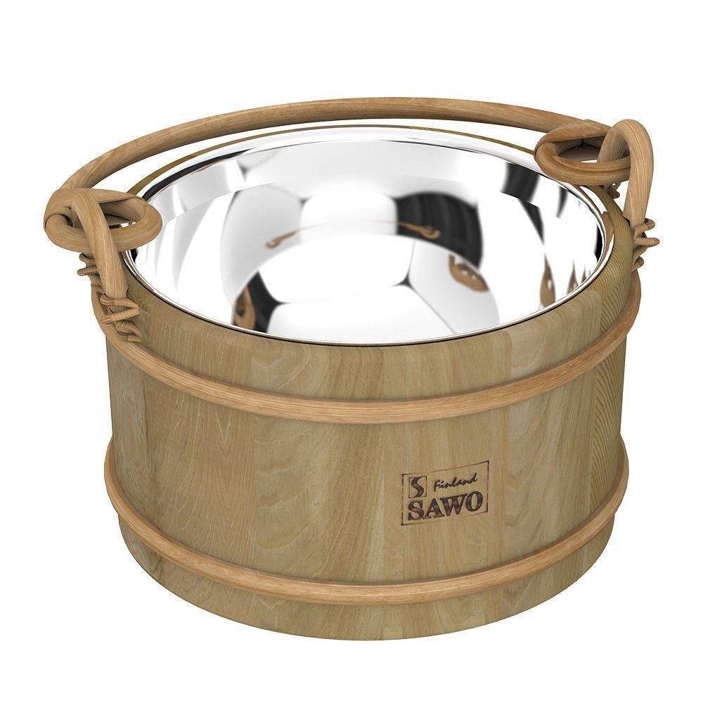 Ведра и кадушки: Ведро деревянное SAWO 371-MD (5 литров, со вставкой из нержавейки)