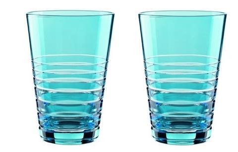 Набор из 2-х бокалов Longdrink Aqua 450 мл артикул 88903. Серия Sixties Rondo
