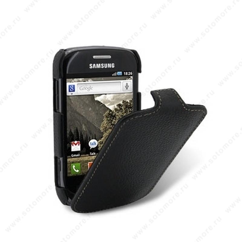 Чехол-флип Melkco для Samsung Galaxy Fit S5670 Leather Case Jacka Type (Black LC)