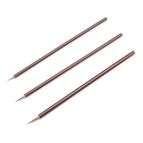 Контурная кисть из колонка с бамбуковой ручкой