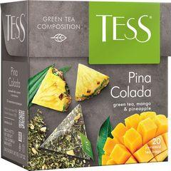 "Чай черный ""Tess"" Пина колада зел. 20 пирамидок"