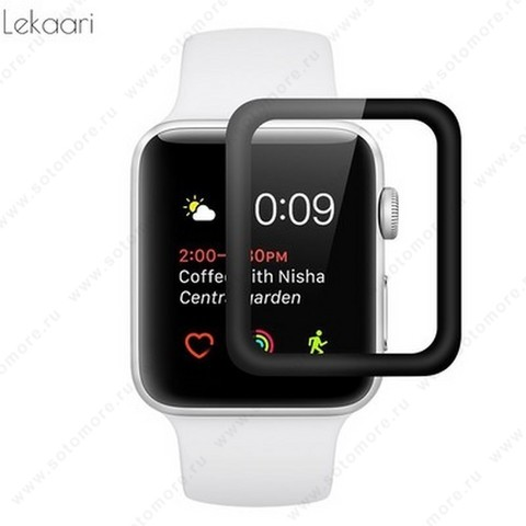 Пленка защитная для Apple Watch 44 mm с черной рамкой
