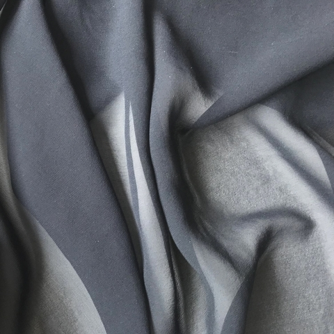 Шифон шелковый темно синий 1129