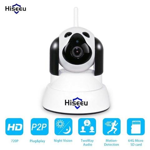 Hiseu Поворотная IP-камера Беспроводная Ip камера Видеонаблюдения Wi-Fi Камера 720 P Ночного Видения CCTV Видеоняня YooSee 6010B WiFi