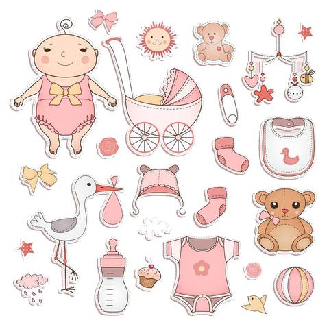 Печать на сахарной бумаге, Набор с Новорожденным 2