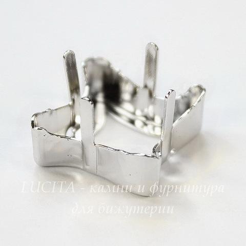 4485/S Сеттинг - основа Сваровски для страза Twister 17 мм (цвет - античное серебро)