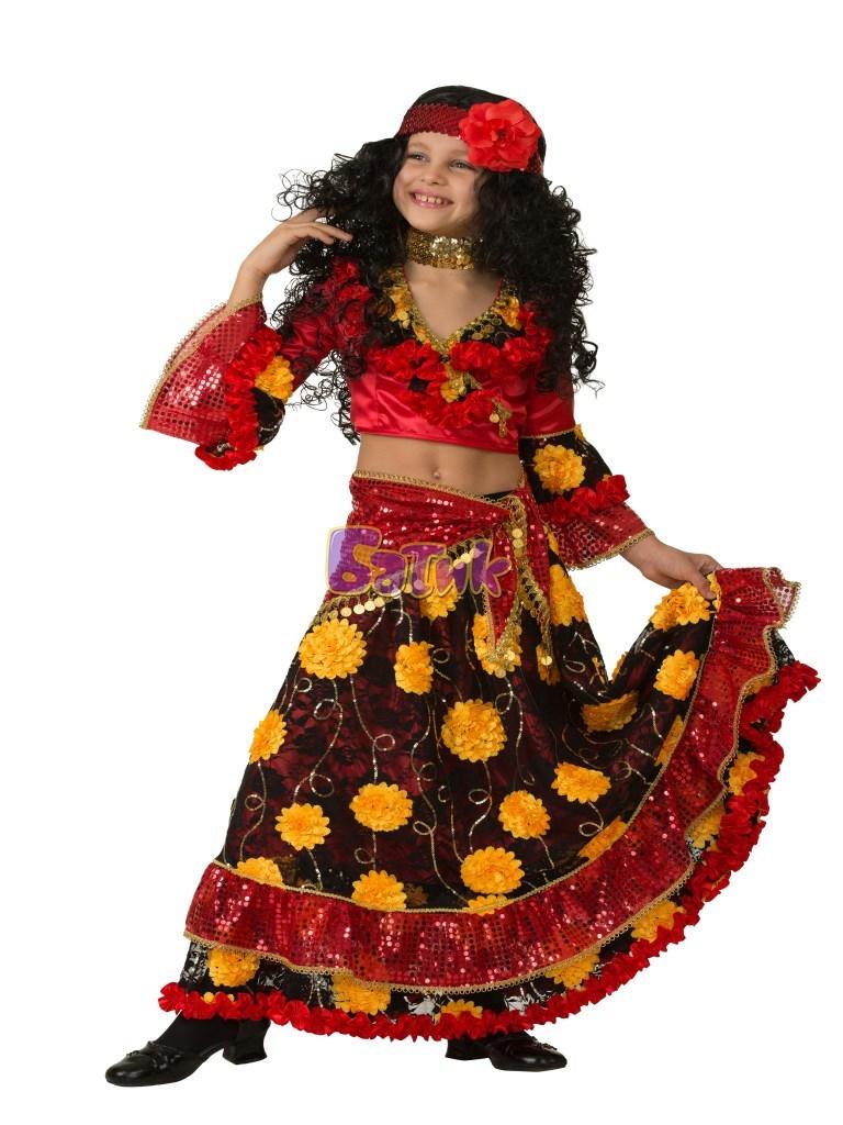 Карнавальный костюм Цыганка-гадалка красная
