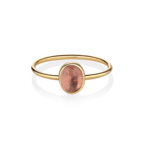 Кольцо с турмалином – 16.5 размер